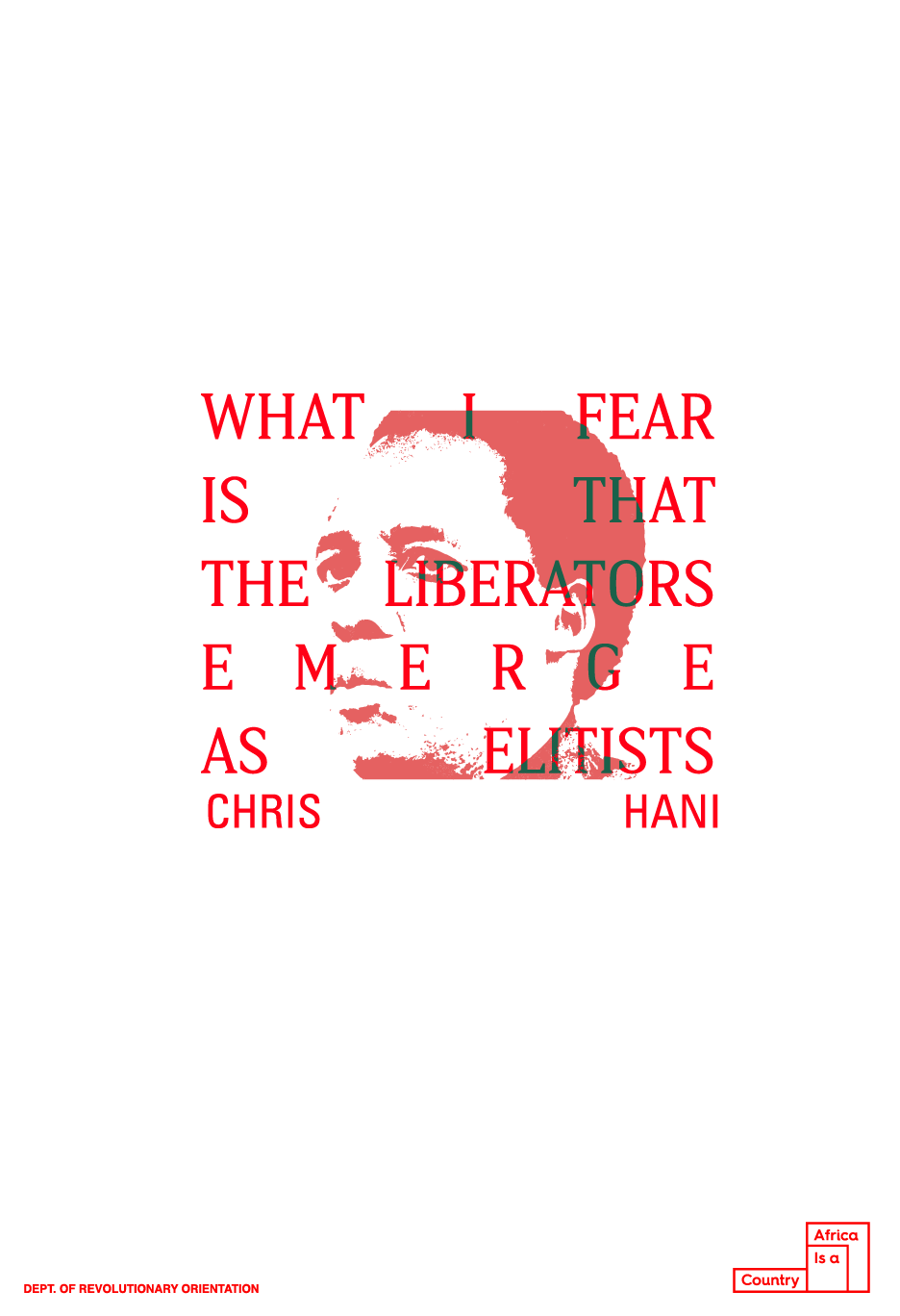 Chris Hani Poster